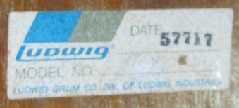 dating ludwig drums serial number